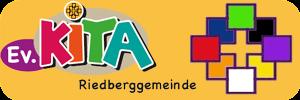 KiTa Logo und Gemeindelogo auf gelben Grund